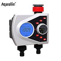Aqualin 21076 цифровой таймер полива, на 2 линии с подсветкой и ЕКО режимом