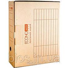 Короб архівний для документів 8см коричн.