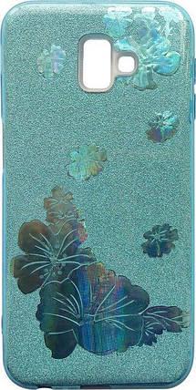 Силикон SA J610/J6+ Glitter Flowers 3D, фото 2