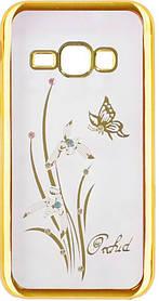 Силикон SA J120 gold bamper Orchid swarovski