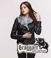 Braggart Youth | Куртка женская весенне-осенняя 25582 черно-серая