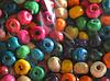 Бусины деревянные разноцветные 6 мм 16001  пакет 80 г