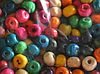 Дерев'яні намистини різнокольорові 6 мм 16001 пакет 80 г