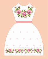 """Заготовка платье для девочки """"Рожеві троянди"""""""