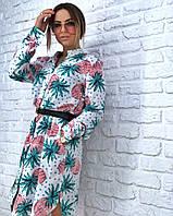 Летнее Платье рубашка с карманами , фото 1