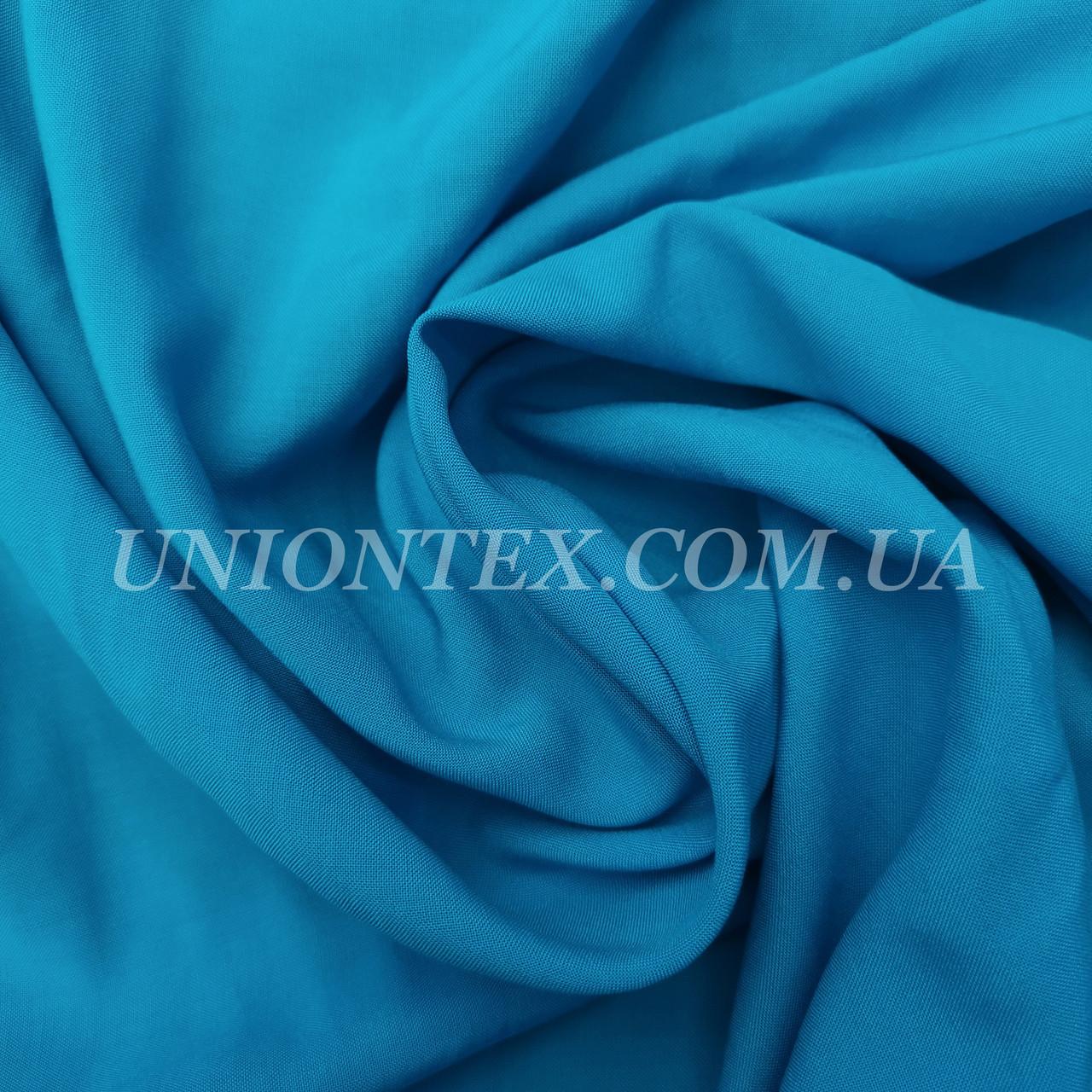 Ткань штапель голубая бирюза