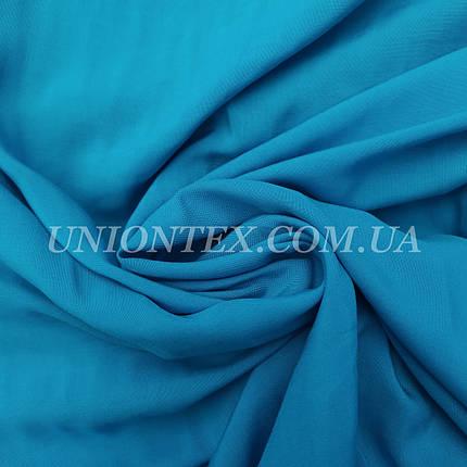 Ткань штапель голубая бирюза, фото 2