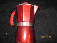 Кофеварка красная гейзерная