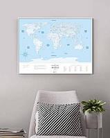 Скретч Карта Мира Travel Map ® Silver| карта путешествий | карта желаний | оригинальный подарок