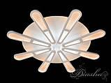 Светодиодная стильная люстра MX2362/8WH dimmer, фото 4