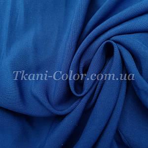 Ткань штапель синий электрик
