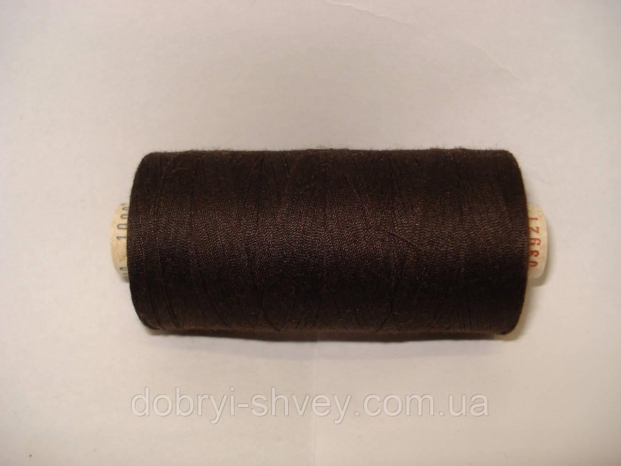 Нитка ALTERFIL №120 1000м.col 03921 коричневый