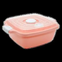 Контейнер с крышкой 1,8 л оранжевый Irak Plastik
