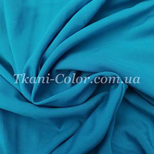 Тканина штапель блакитна бірюза