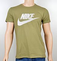 """Мужская футболка """"NIKE-19N02"""" хаки, фото 1"""