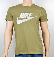 "Мужская футболка ""NIKE-19N02"" хаки"
