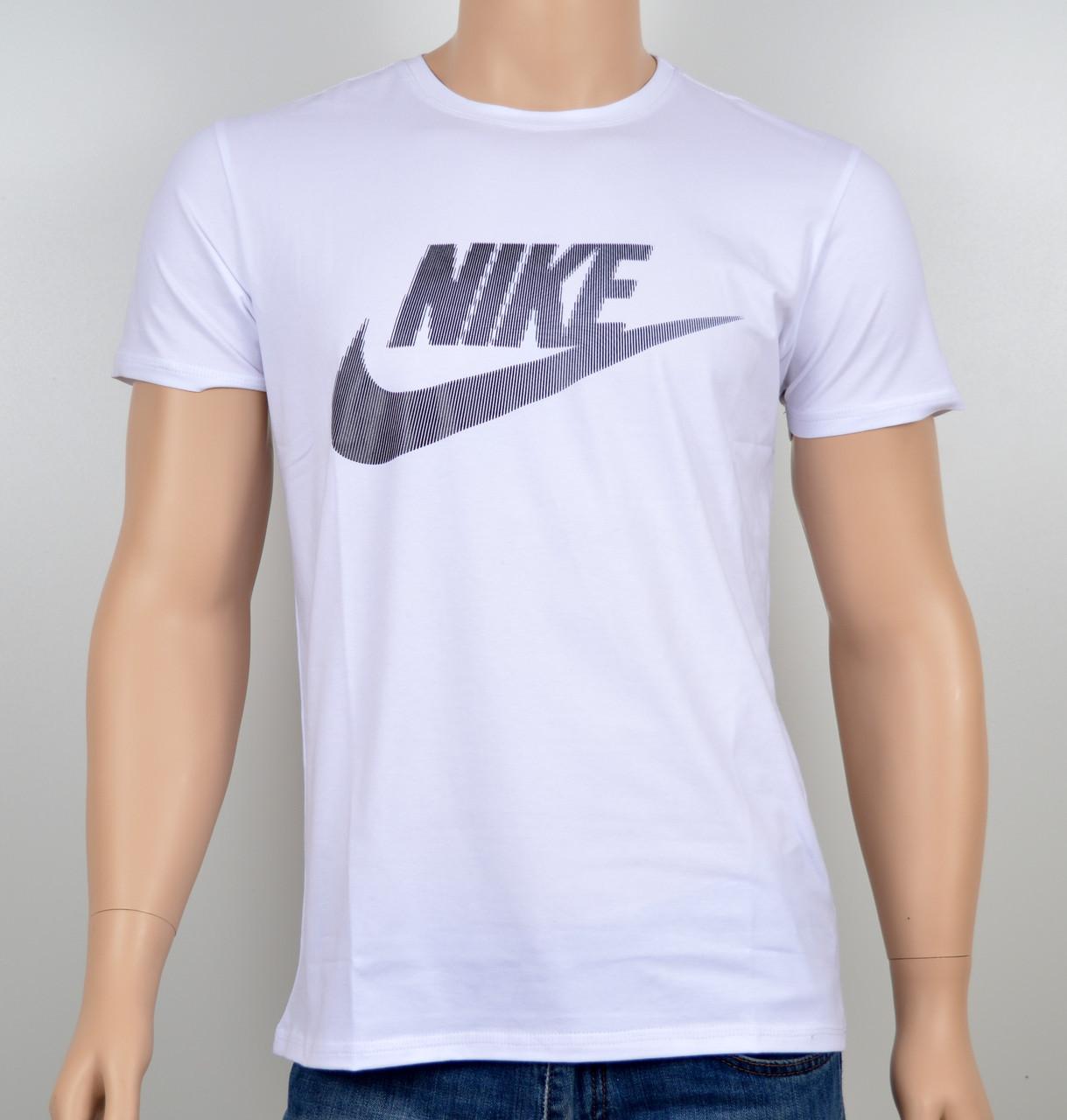 """Мужская футболка """"NIKE-19N02"""" белый"""