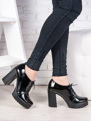 Кожаные туфли на каблуке 6988-28, фото 2