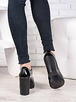 Кожаные туфли на каблуке 6988-28, фото 3