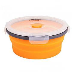 Ланч бокс контейнер с крышкой защелкой 800мл Tramp TRC-087 Orange