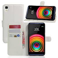 Чехол-книжка Litchie Wallet для LG X Power K220DS Белый
