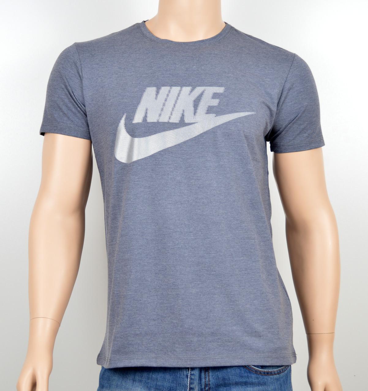 """Мужская футболка """"NIKE-19N02"""" серый"""