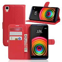 Чехол-книжка Litchie Wallet для LG X Power K220DS Красный