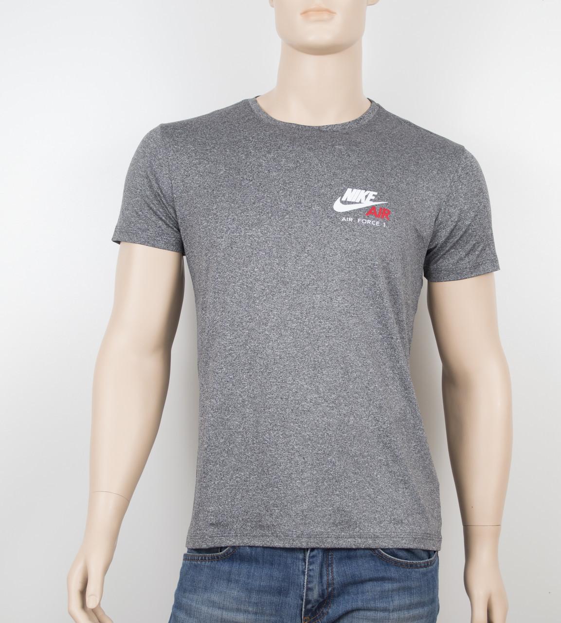 "Мужская футболка ""Вискоза"" Nike 1901 серый"