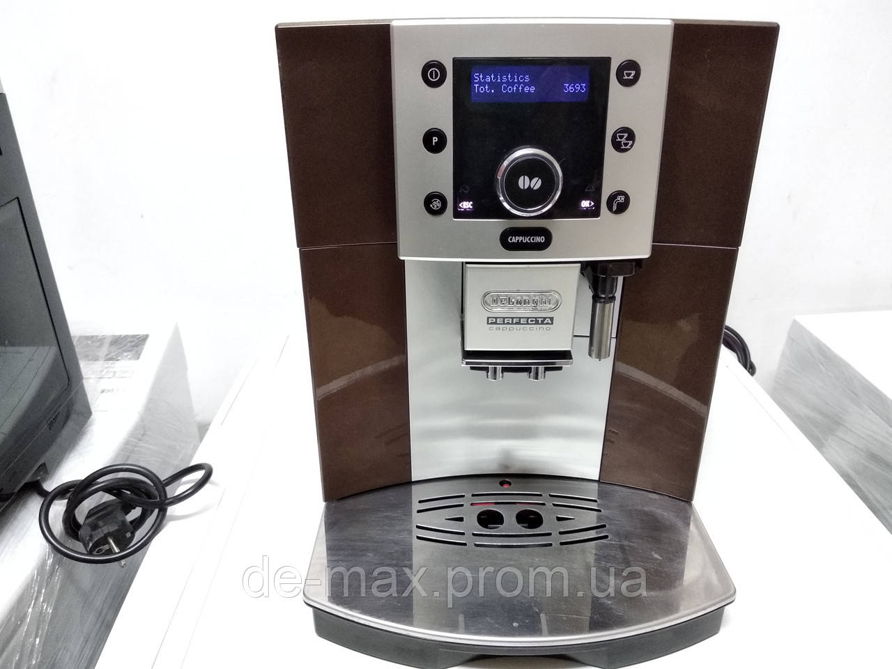 Кофемашина Делонги  Delonghi Esam 5500 Perfecta коричневая текстовое меню