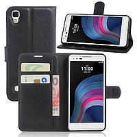 Чехол-книжка Litchie Wallet для LG X Style K200 Черный