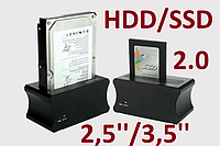 "USB 2.0 Док станция для HDD SSD 2.5"" 3.5"" Shuole металл 2.0"