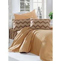 Комплект постельного белья Eponj Home Paint Pike ZigZag Кофе