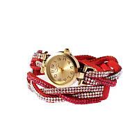Часы косичка красные