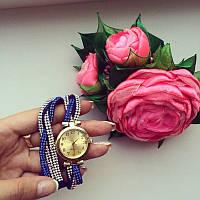 Часы косичка синие