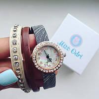 Часы Магник коричневые