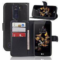 Чохол-книжка Litchie Wallet для LG K8 K350E Чорний