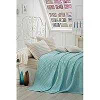 Комплект постельного белья Eponj Home Pike Yoga Бирюзовый