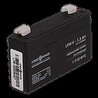 Аккумулятор AGM LogicPower LPM 6-1,3 AH, фото 1