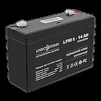Аккумулятор AGM LogicPower LPM 6-14 AH, фото 1