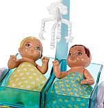 Кукла Барби педиатр врач Barbie Careers Baby Doctor Playset Барбі педіатр з двома пупсами, фото 4