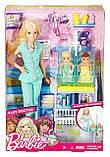 Кукла Барби педиатр врач Barbie Careers Baby Doctor Playset Барбі педіатр з двома пупсами, фото 5