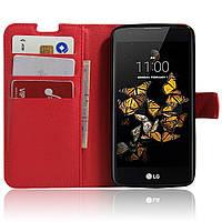 Чехол-книжка Litchie Wallet для LG K8 K350E Красный