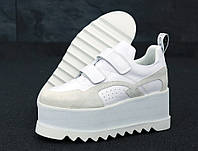 Кроссовки женские Stella McСartney реплика ААА+ размер 36-41 белый (живые фото)