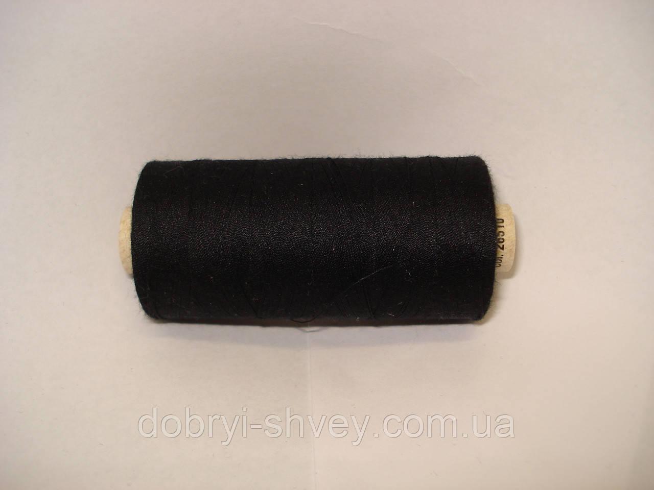 Нитка ALTERFIL №120 1000м.col 26510 черный