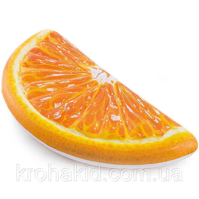 """Intex Матрас 58763 EU  """" Долька Апельсина"""" оранжевый, размер 178-85 см, от 12-ти лет"""