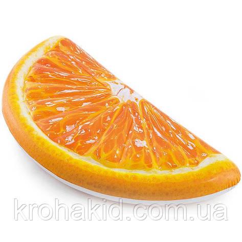 """Intex Матрас 58763 EU  """" Долька Апельсина"""" оранжевый, размер 178-85 см, от 12-ти лет, фото 2"""