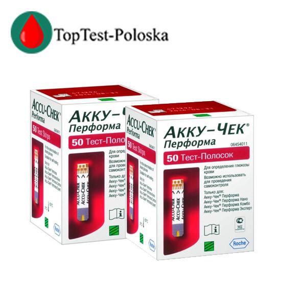 Тест-смужки Акку-Чек Перформа (Accu-Chek Performa) 100 шт.