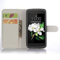 Чехол-книжка Litchie Wallet для LG K7 X210 Белый