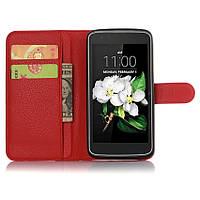 Чехол-книжка Litchie Wallet для LG K7 X210 Красный