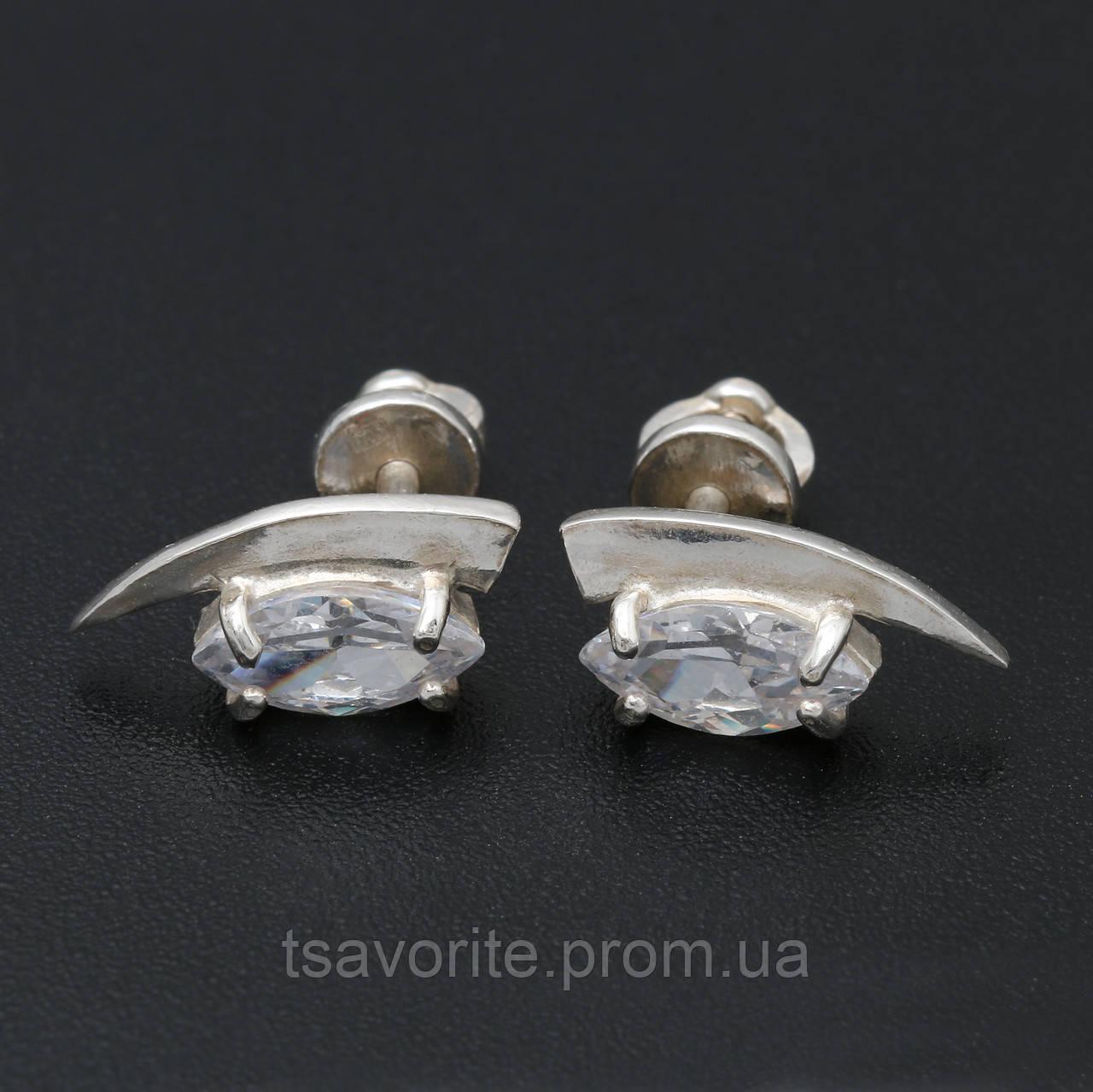Серебряные серьги СЖХ-2